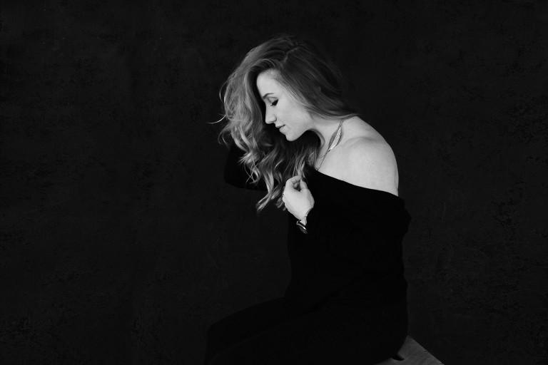 """black and white beauty portrait"""