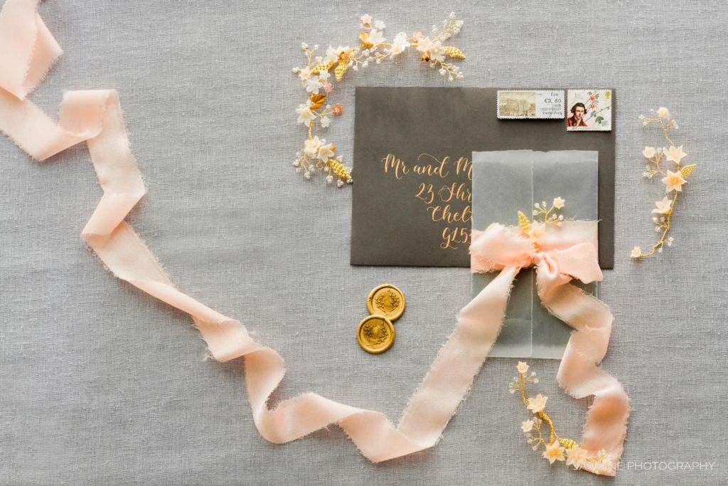 """fine art wedding invitations suit styling"""