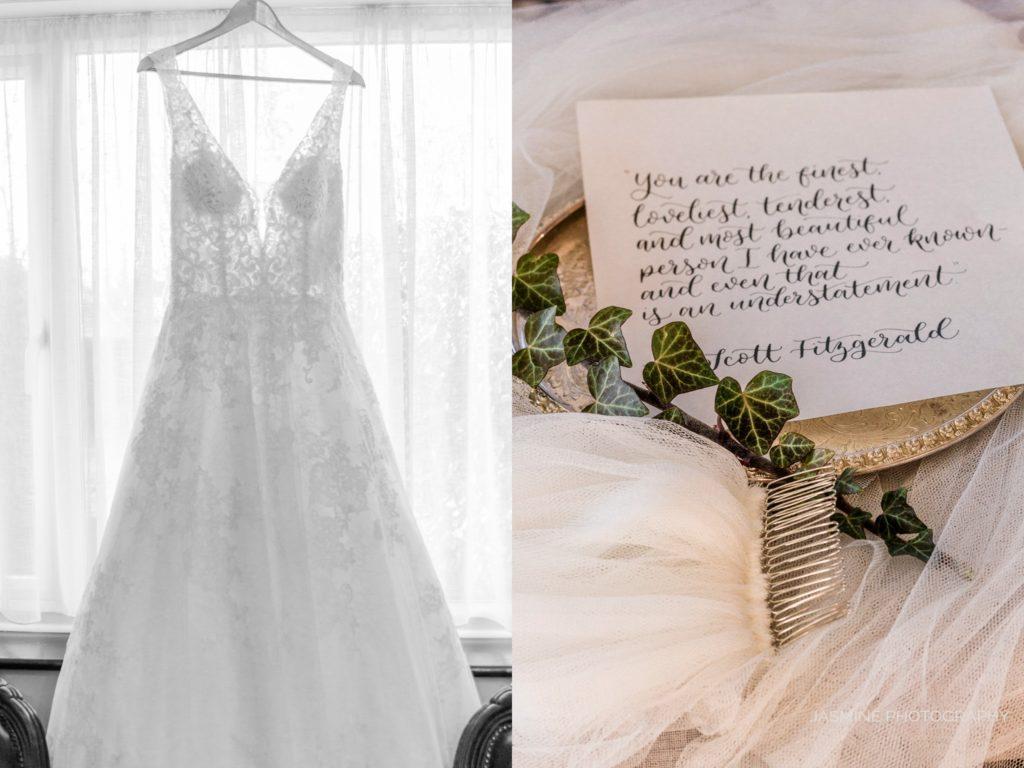 """fine art wedding dress and veil styling"""