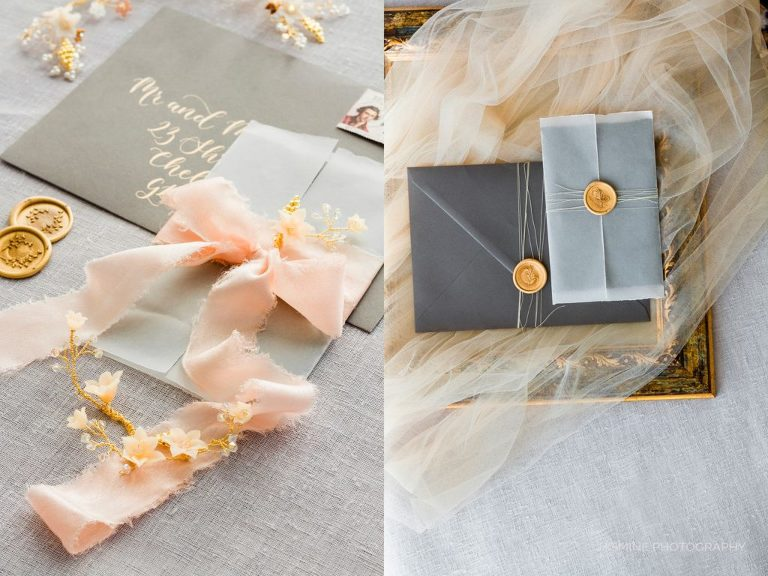 """fine art wedding invitation and wax seals"""