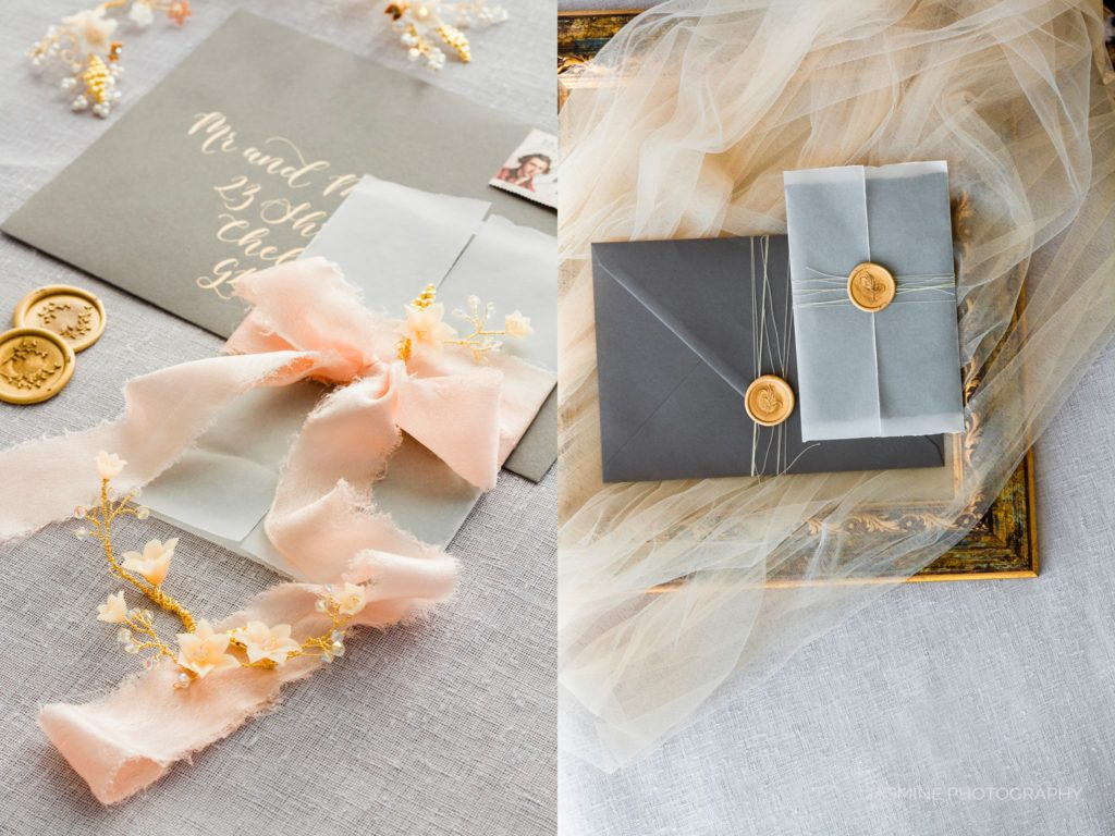 """fine art wedding invitation and wax seals"""